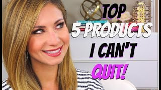 TOP 5 BEAUTY PRODUCTS I KEEP BUYING OVER AND OVER! COLLAB