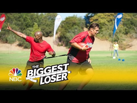 The Biggest Loser - Playing Football with NFL Legends (Episode Highlight)