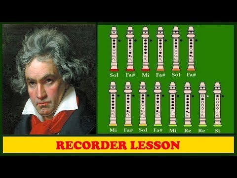 Beethoven - Ode To Joy - Symphony N° 9 on Recorder (Tutorial)