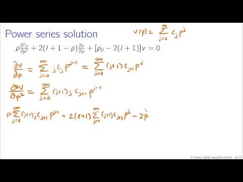 Hydrogen atom radial wavefunctions