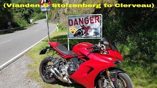 🛣My Road (Vianden & Stolzenberg to Clerveau) 🏙(Ducati Supersport S) (45%)  (Luxembourg) (31C°)
