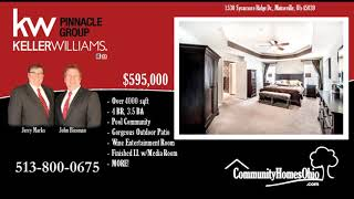 Luxury Home for Sale in Pool Community w/Tennis, Play Area, & Club House in Maineville OH