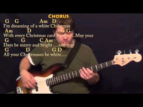 White Christmas (CHRISTMAS) Bass Guitar Cover Lesson in G with Chords/Lyrics