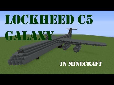 Building the Lockheed C5 Galaxy airplane in Minecraft