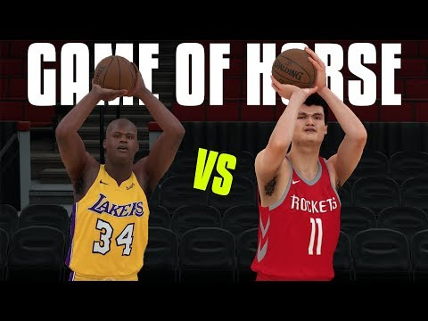 Shaquille O'Neal VS Yao Ming In A Game Of HORSE! NBA 2K18 Gameplay!