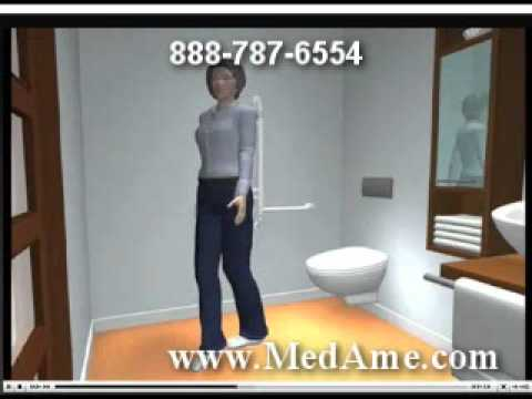 Bathroom Grab Bars Placement handicap bath grab bar placement bathroom accessories store - youtube