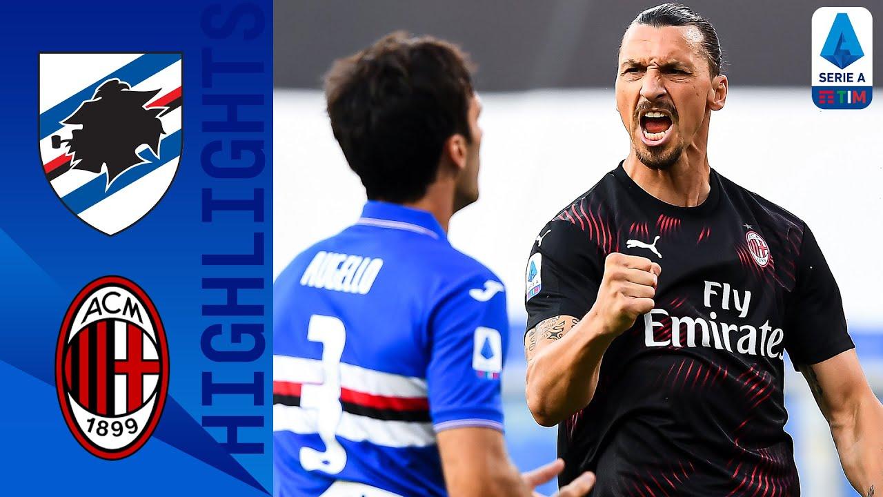 Sampdoria 1-4 Milan | Zlatan scores in either half as Milan see off Sampdoria | Serie A TIM