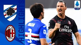 Sampdoria 1-4 Milan | Zlatan Scores in Both Halves as Milan see off Sampdoria | Serie A TIM
