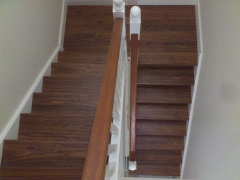 Quick step walnut laminate flooring on stairs youtube for Laminate flooring mn