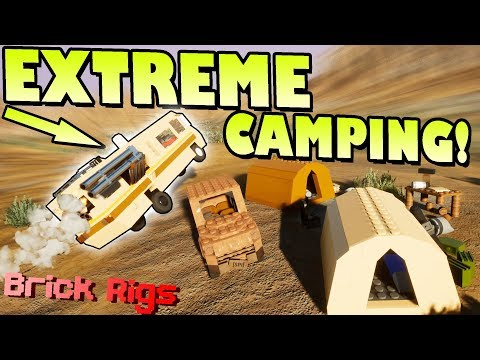 EXTREME CAMPING TREASURE HUNT with BOB and BOB! - Brick Rigs Multiplayer Gameplay Ep17