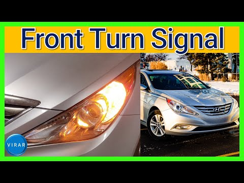How to Replace Front Turn Signal Bulb – Hyundai Sonata (2011-2014)