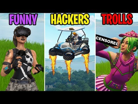 FLYING ATKS? FUNNY vs HACKERS vs TROLLS! Fortnite Battle Royale Funny Moments