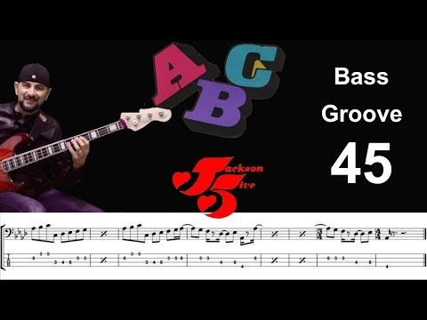 ABC (Jackson 5) How to Play Bass Groove Cover with Score & Tab Lesson