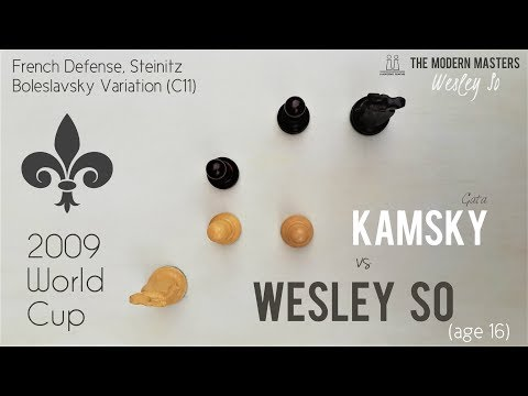 Kamsky got dominated by Wesley's French ⎸2009 World Cup