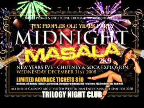 MIDNIGHT MASALA New Years Eve Celebration inside TRILOGY Night Club