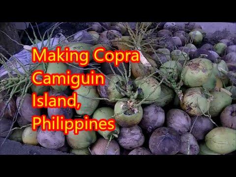 Making Copra Camiguin Island, Philippines