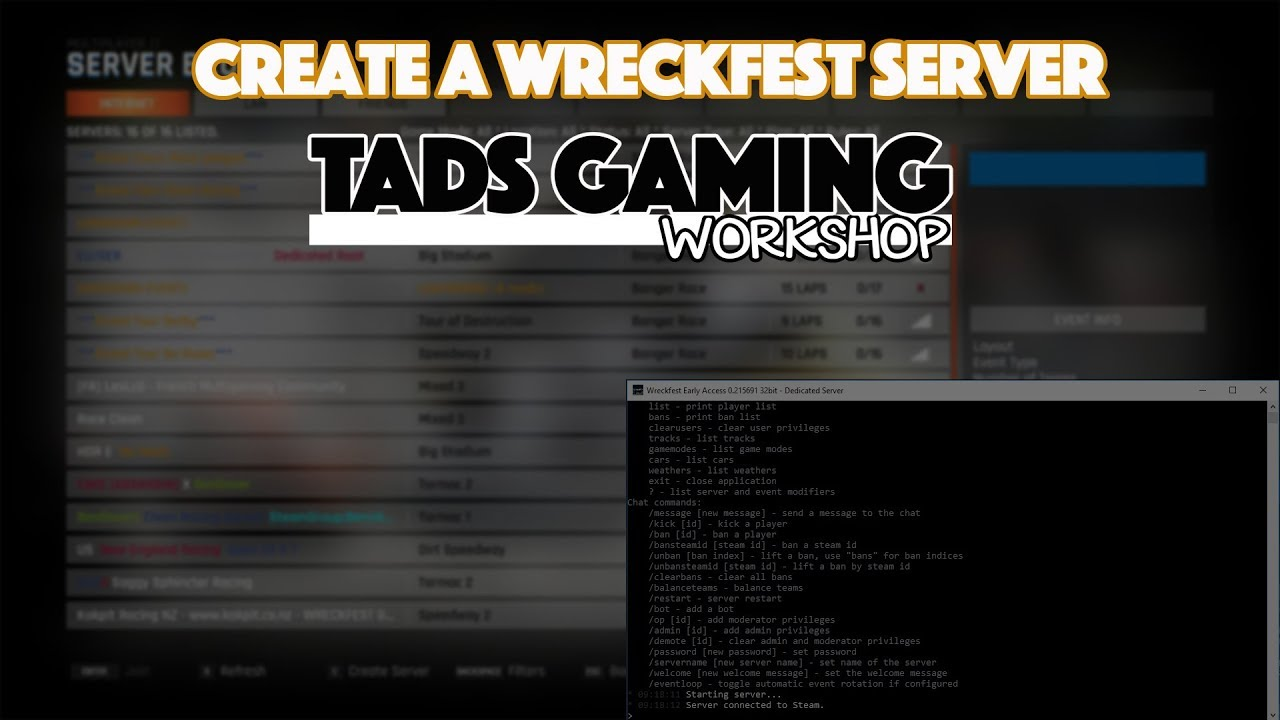 How To Create A Wreckfest Dedicated Server YouTube - Minecraft server erstellen wikihow