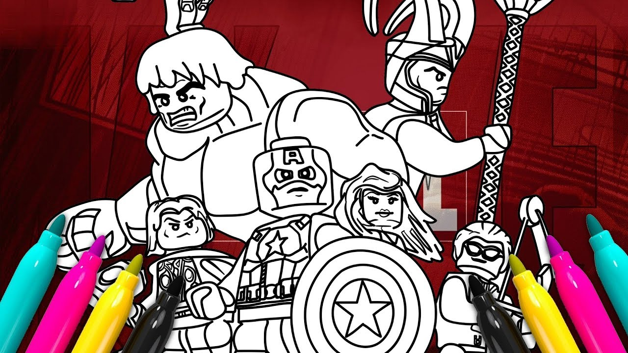 LEGO Superheroes Comics Coloring page | MARVEL Avengers Coloring Book