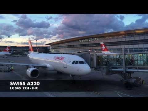 Swiss A320 Business Class | Zürich ✈ London LHR | Trip Report | takeoff & landing