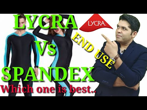 Difference between Lycra and spandex, Properties,end use products by Vikas Punia