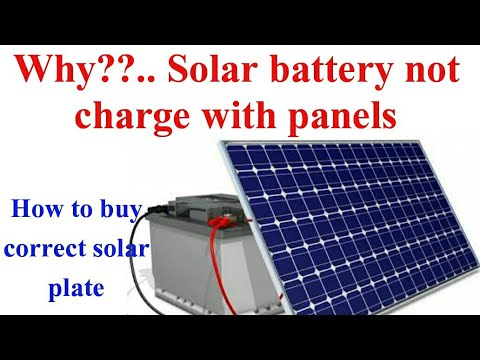 Why battery not charge with solar |Maximum charging current for battery|Rooftop Solar Buying Guide