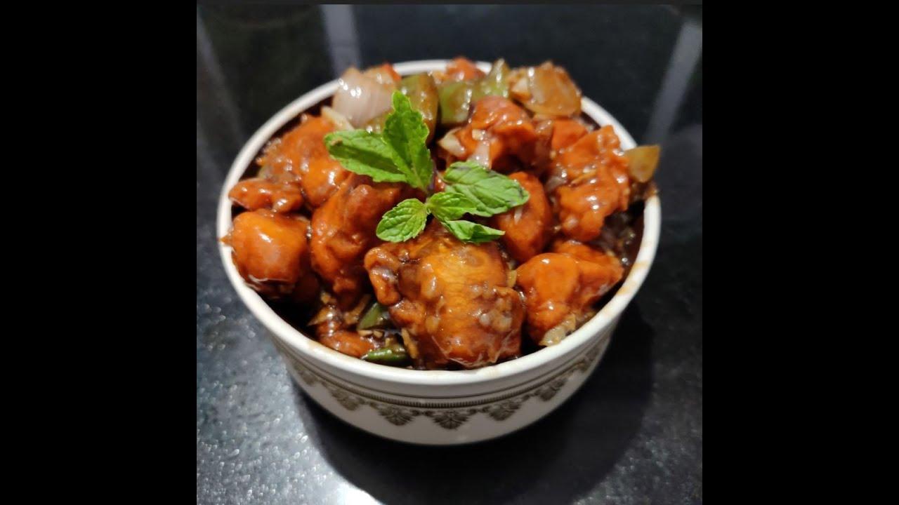 Chicken Chilli (Desi Style)   Chicken Chilli Gravy Recipe ...