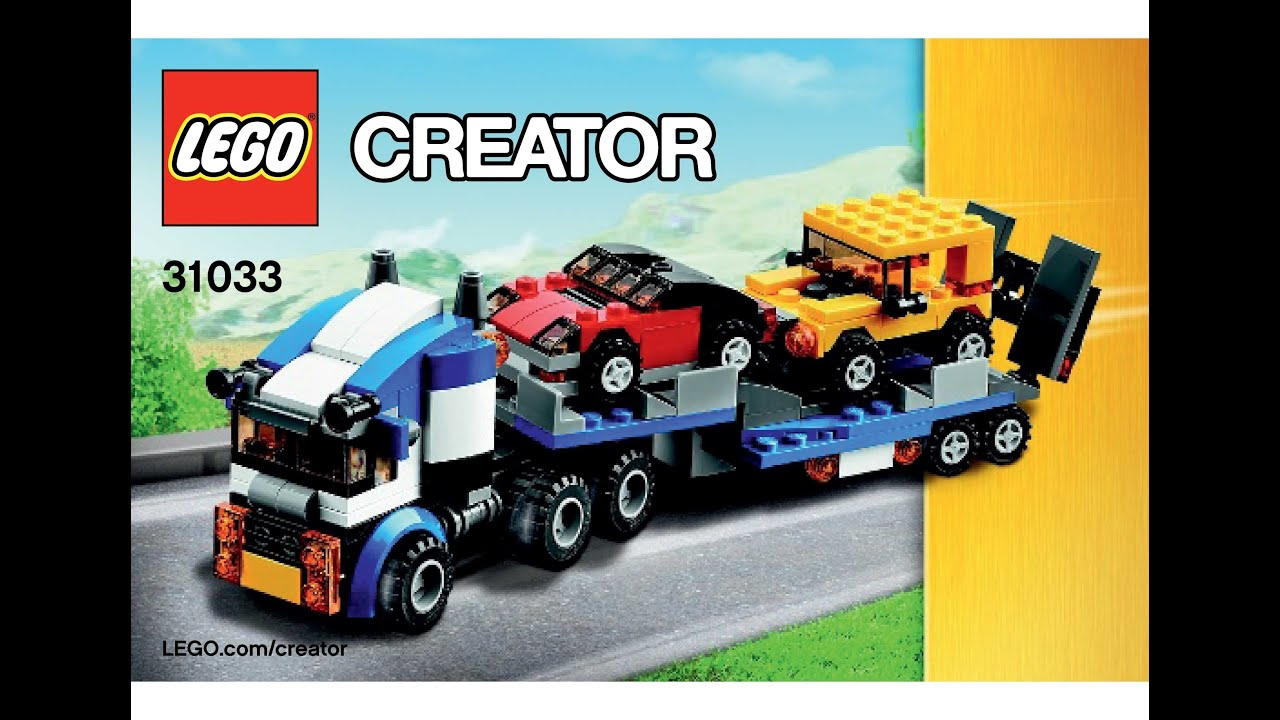 Lego 31033 Vehicle Transporter Instructions Lego Creator 3 In 1 2015