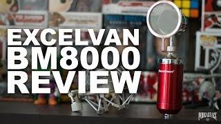 excelvan bm 8000 condenser mic review test