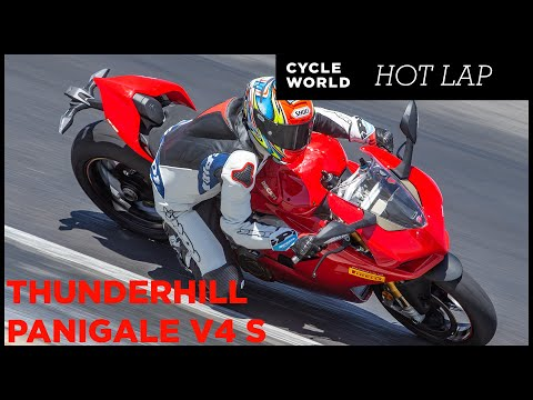 2019 Ducati Panigale V4 S Hot Lap At Thunderhill Raceway Park