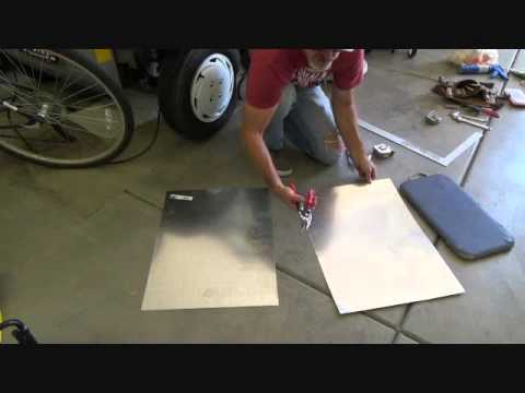 How To Cut Sheet Metal Galvanized Flashing Youtube