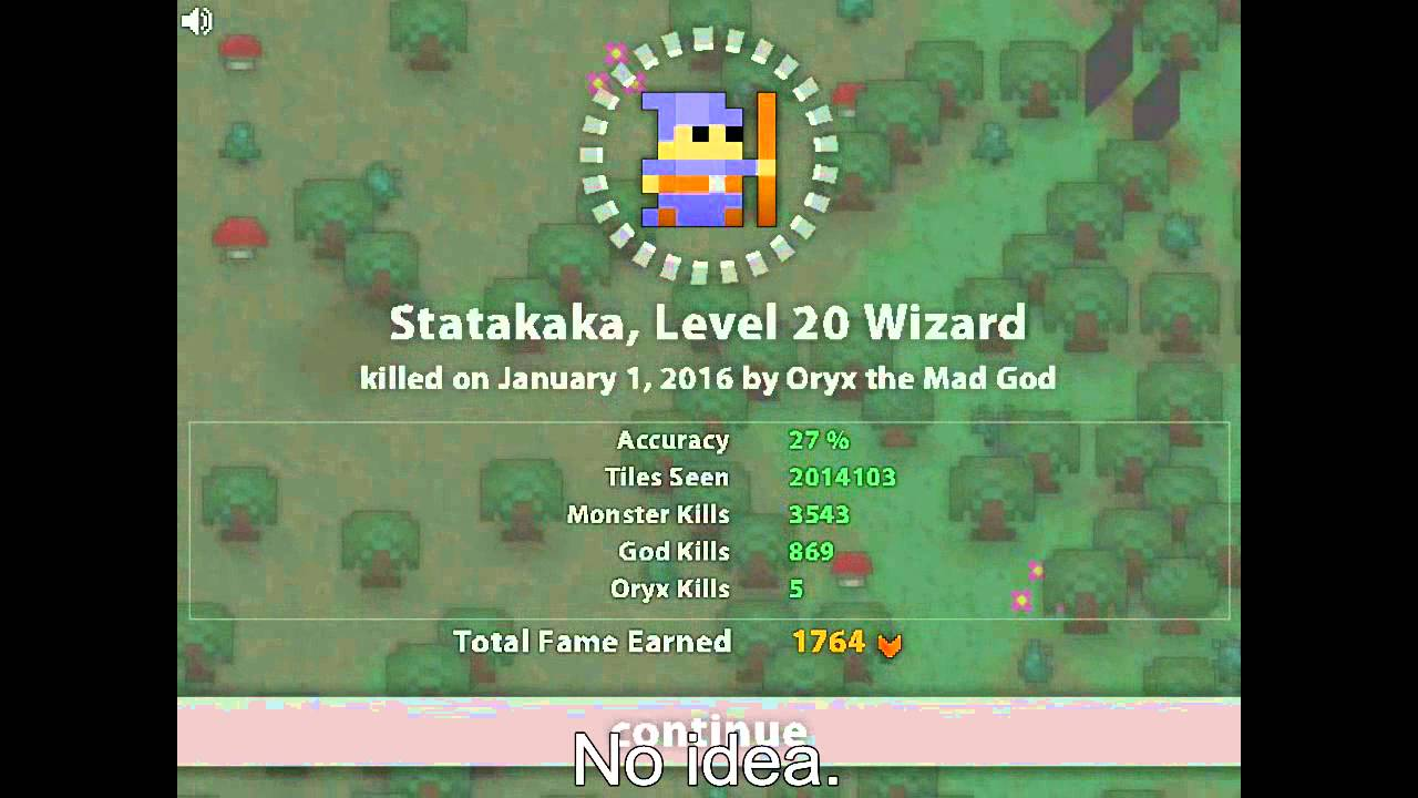 My wizard gets rekt at nilly's realm  (Realm of the mad god)