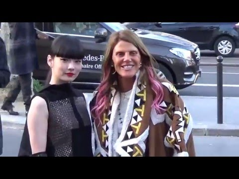 Kozue AKIMOTO & Anna Dello Russo @ Paris 3 march 2016 Fashion Week show Rick Owens
