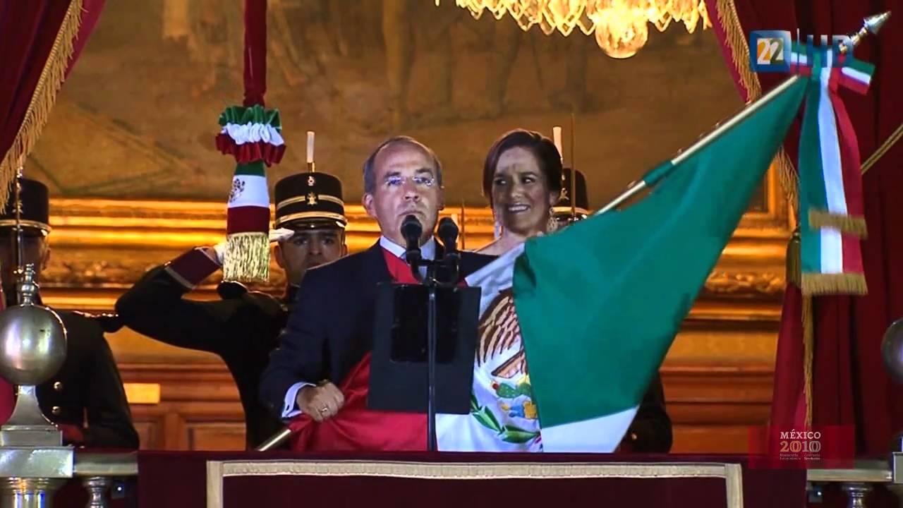 Bicentenario Independencia México Ceremonia Protocolaria Del Grito