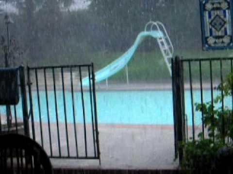 Flash Flood Rain in Shadow Hills