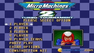 Micro Machines 2 gameplay (PC Game, 1994)