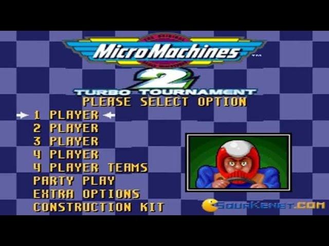 Micro Machines 2 gameplay (PC Game, 1994)
