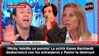Â¡Micky Vainilla un poroto! La actriz Karen Reichardt patinÃ...