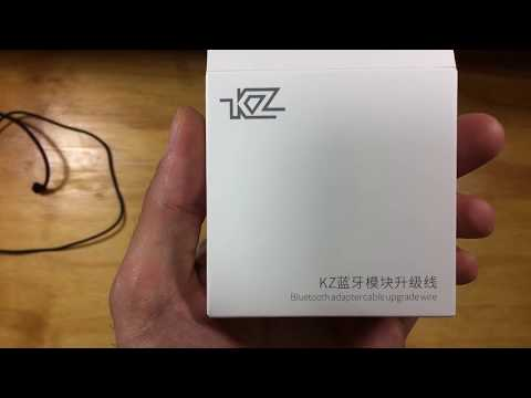 Unboxing & First Impressions  KZ ZST Earphone Bluetooth Adapter Cable