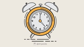 Clock icon Illustration Design using adobe illustrator