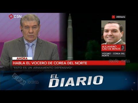 El Diario C5N-Habla Alejandro Cao de Benós - Vocero de Corea del Norte( 04. 09. 2017 )