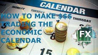 Live trade: How to scalp the economic calendar