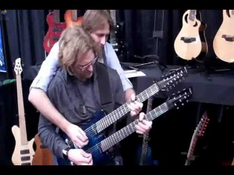 Veillette Doubleneck - Marcus Eaton and Kitch Membery - NAMM 2011