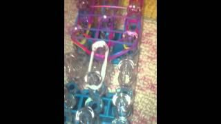 Rainbow loom cotton candy charm