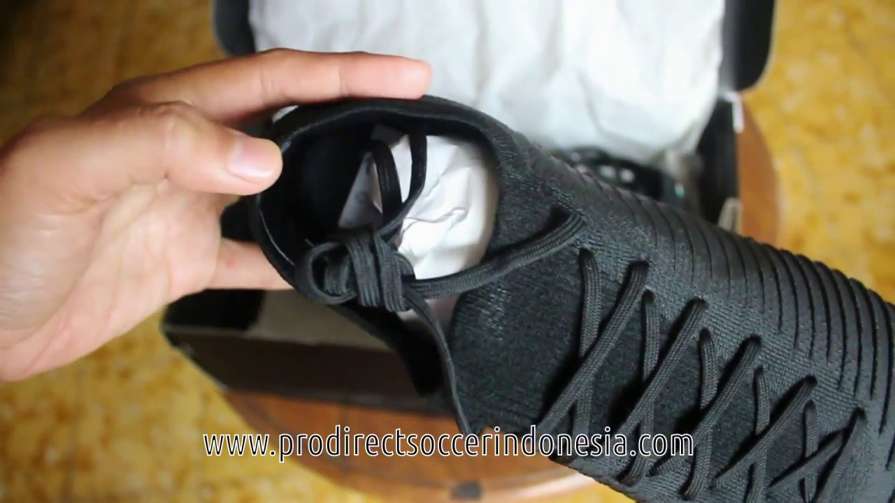 Sepatu Bola Nike Flyknit Ultra FG Black AH5516 003 Original - YouTube 9db02341b8