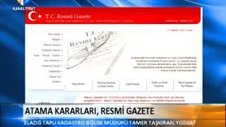 Atama Kararları, Resmi Gazete / Kanal Fırat