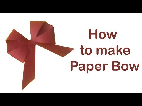 Paper bow/ DIY easy paper bow/ How to make a paper bow/ PlentyTempty
