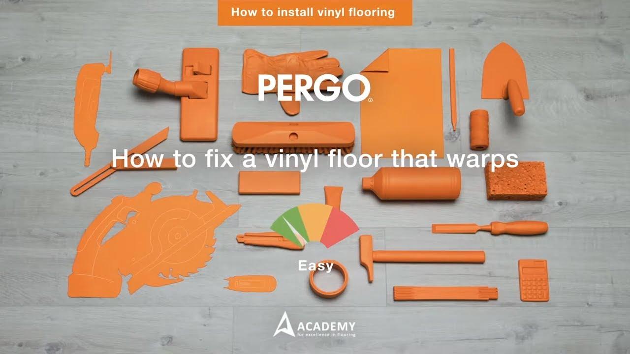 how to fix bulging vinyle flooring