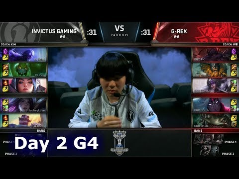 IG vs GRX   Day 2 Group Stage S8 LoL Worlds 2018   Invictus Gaming vs G-Rex