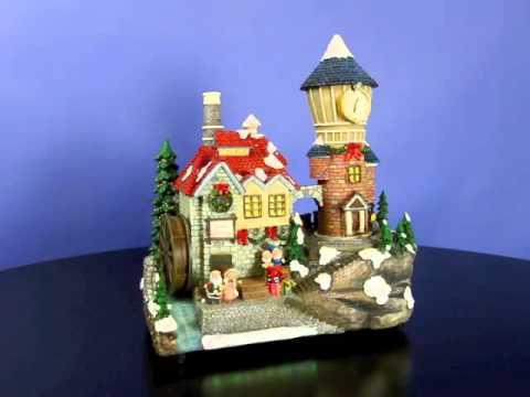 Santa's Animated Clocktower Village