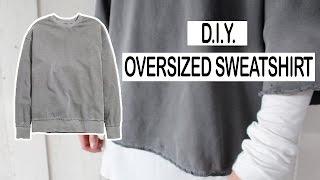DIY OVERSIZED SWEATER | MEN